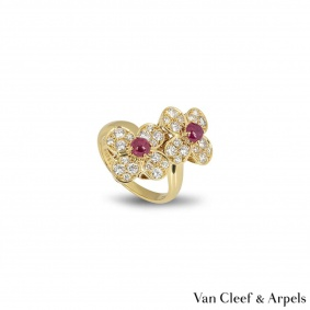 Van Cleef & Arpels Yellow Gold Trefle Ring